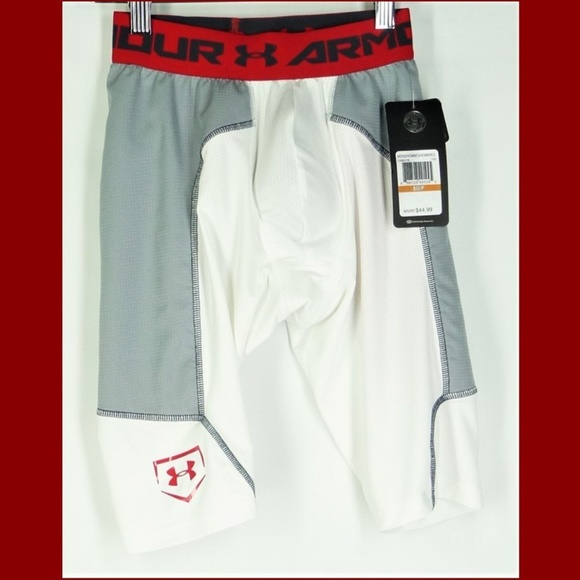 White Under Armour UA Heatgear Compression Shorts w// Cup NWT Various Sizes